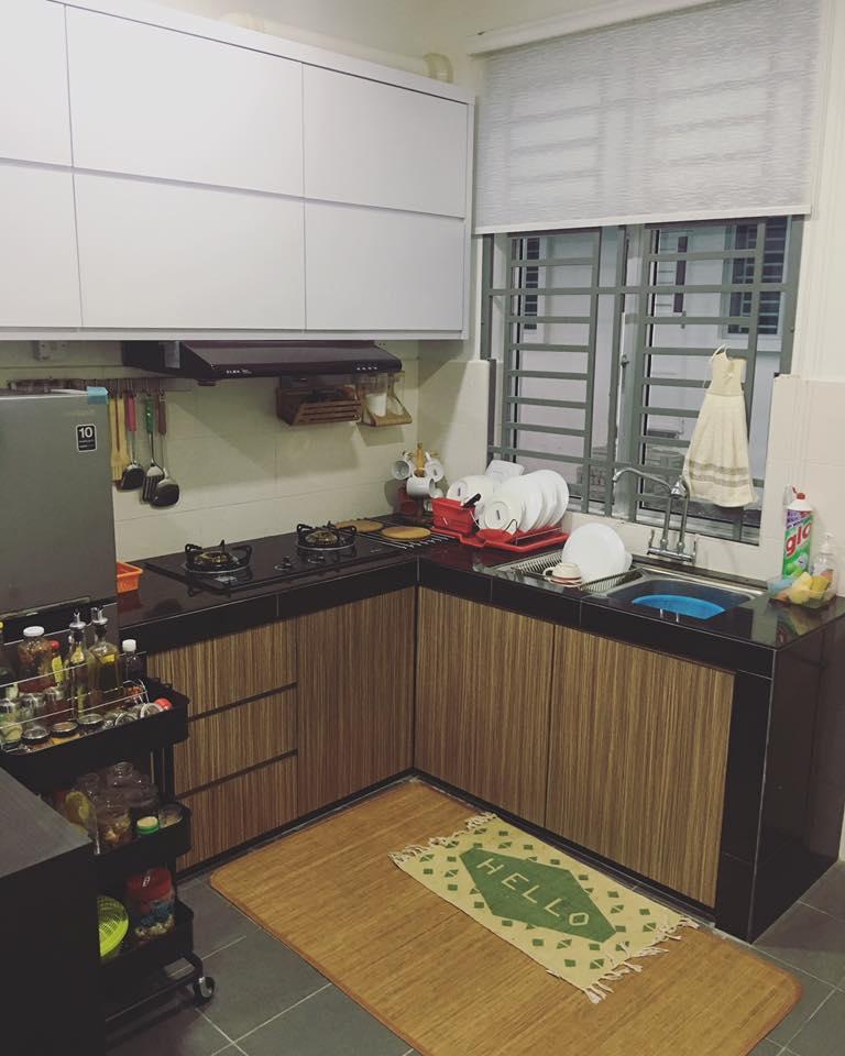 Ruang Dapur Memang Sangat Kecik So Tak Dapat Nak Letak Banyak Barang Atas Table Top Nanti Nampak Semak Pakai La Troli Bergerak Tu Untuk Jimat